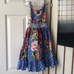 Girls size 4 Matilda Jane maxi dress worn once
